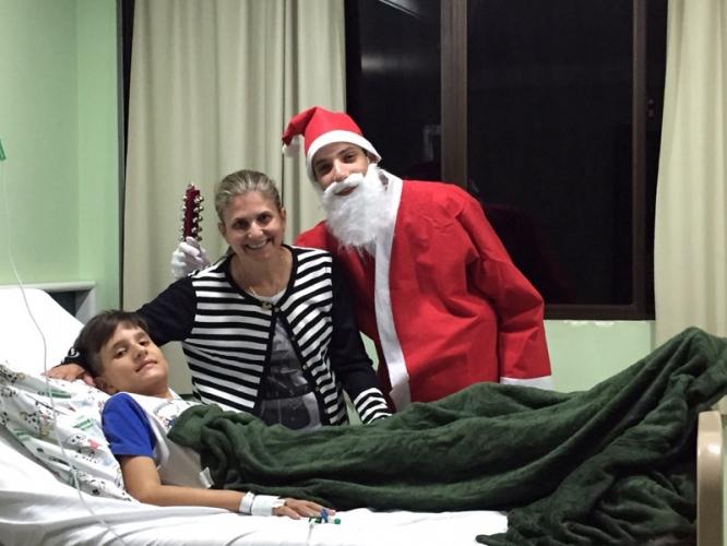 Comemoração natalina na pediatria
