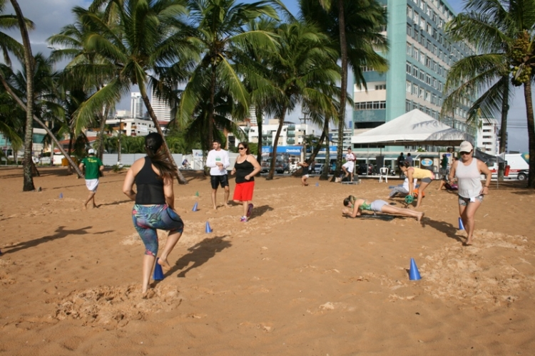 Jampa Saúde movimenta Praia do Cabo Branco