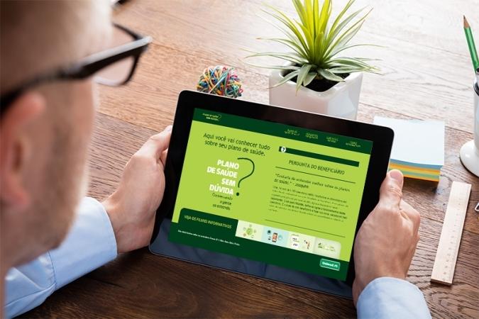 Clientes podem esclarecer dúvidas sobre plano de saúde em hotsite