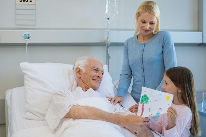 O carinho dos parentes e amigos ajuda na recuperação do paciente: doses de amor