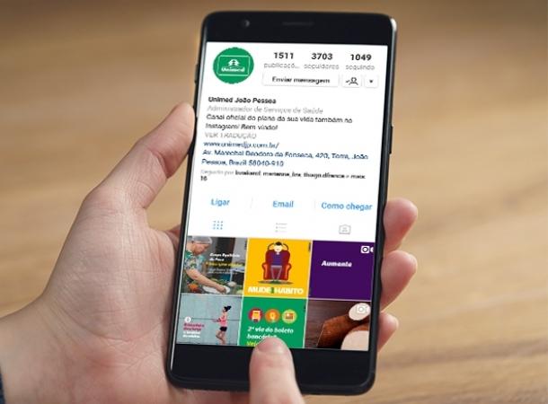 Unimed João Pessoa se destaca em número de seguidores no Instagram