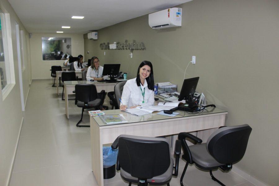 Um espaço amplo e acolhedor para atender futuros clientes da Cooperativa