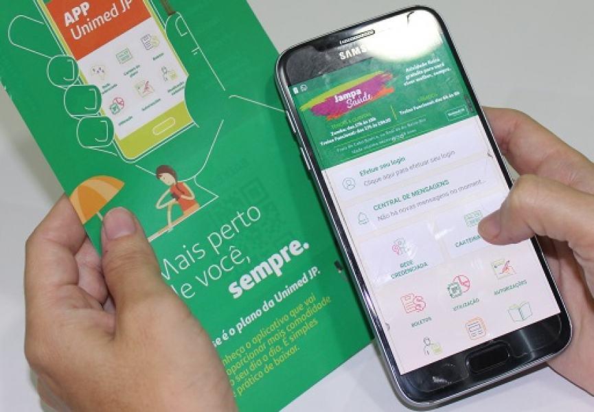 Aplicativo da Unimed JP é facil de baixar e muito seguro: serviços estão na palma da mão