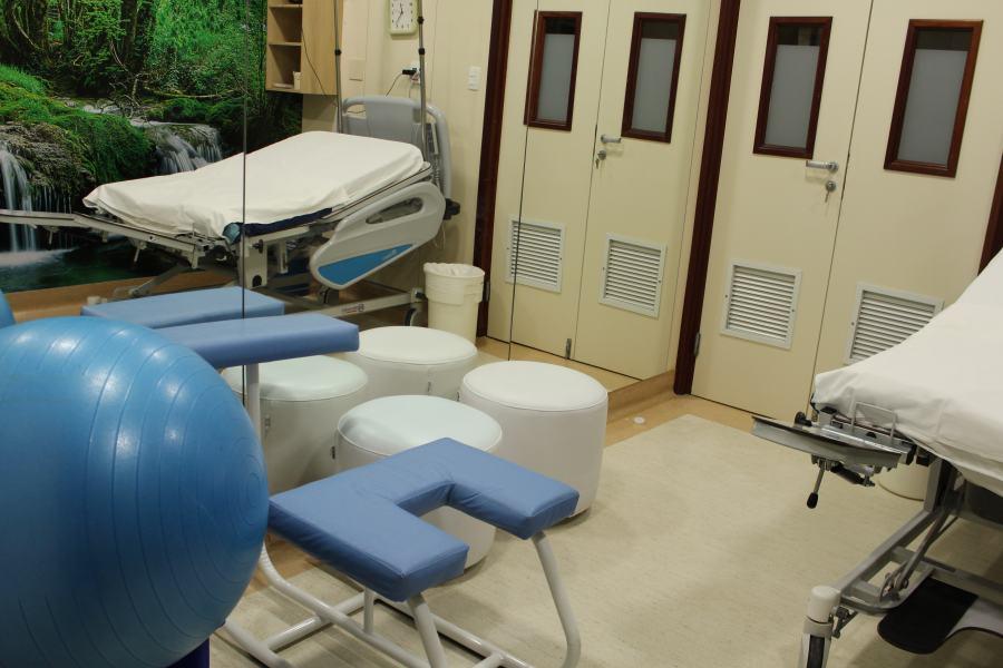 Paciente que decidir pelo parto natural contará com uma sala específica com estrutura para isso