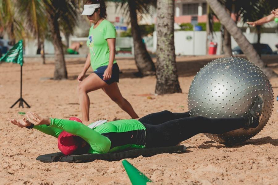 Jampa é feito regularmente na Praia do Cabo Branco: funcional, zumba e serviços de saúde