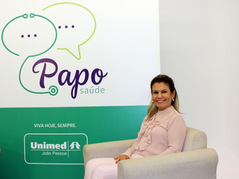 A médica cooperada Valquíria Silva participou do programa Papo Saúde nessa quarta-feira (4)
