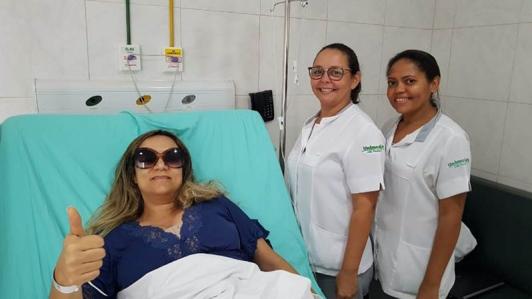 Georgiana Wanuska Araújo afirma que a equipe do hospital a recebeu com muito carinho e atenção