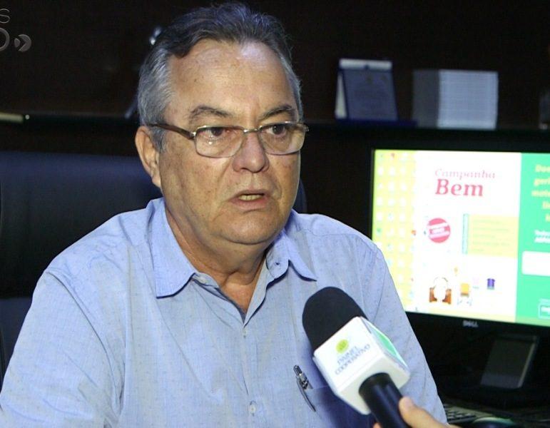 O presidente Demóstenes Paredes Cunha Lima no Painel Cooperativo: admissão de cooperados
