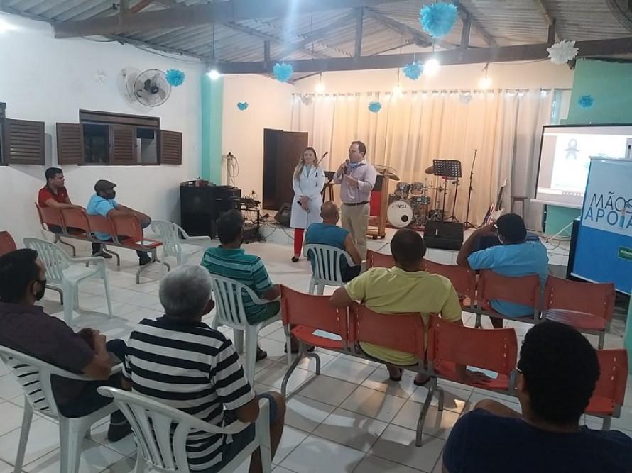 A equipe da Unimed JP abordou temas importantes para os homens durante palestra na Comunidade São Rafael: qualidade de vida