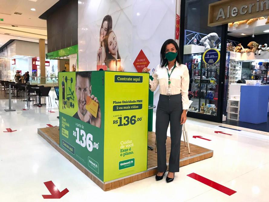 Unimed João Pessoa monta estande de vendas no Mangabeira Shopping