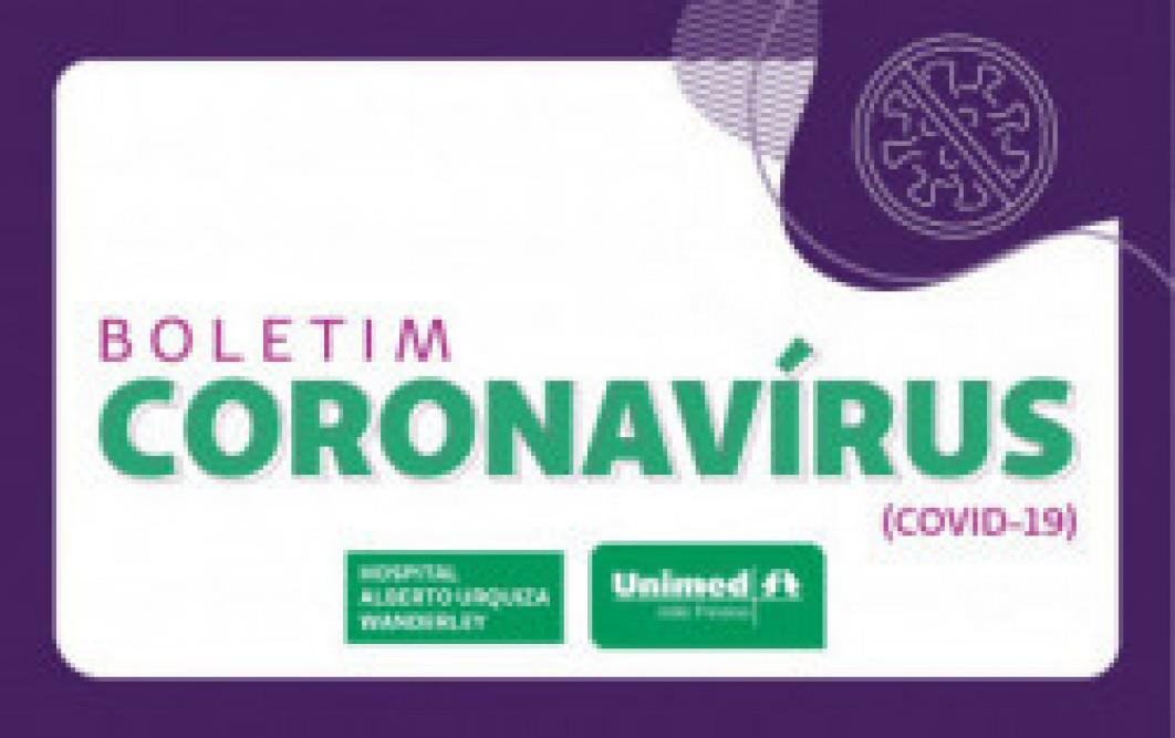 Boletim sobre casos de coronavírus no Hospital Alberto Urquiza