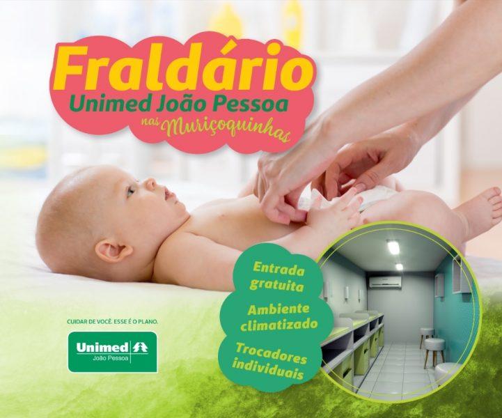 Unimed João Pessoa vai disponibilizar fraldário no Bloco Muriçoquinhas