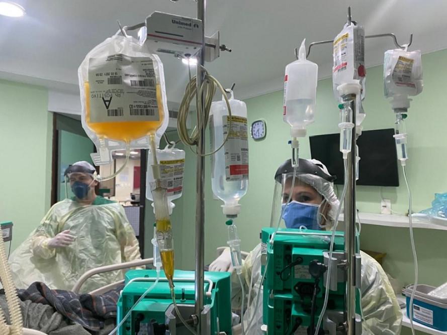Unimed JP é pioneira no uso de plasma em paciente com covid-19